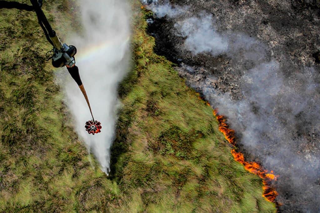 Peatland fires in the Ogan Komering Ilir district of South Sumatra province
